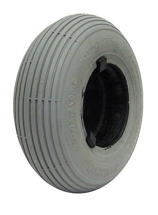 """9"""" x 2-3/4"""" (2.80/2.50-4) Foam-Filled Tire with Spirit Ribbed Tread C179 (Primo) Side View"""