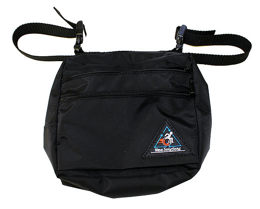 Double Pocket Accessory Pouch for Scooters, Power Chairs and Wheelchairs Front View