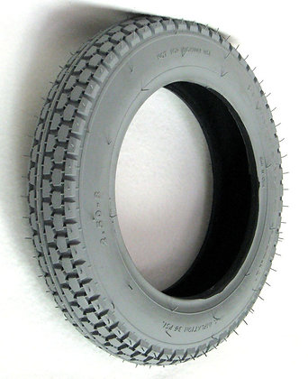 """2.50-8 (13 1/4"""" x 2 1/4"""") Pneumatic Tire With Knobby Power Plant Tread Side Profile View"""