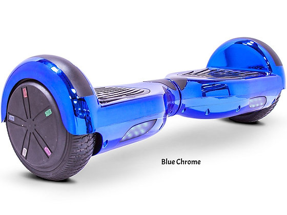 MotoTec Self Balancing Scooter 24V 6.5in Blue Chrome Right Side Profile View