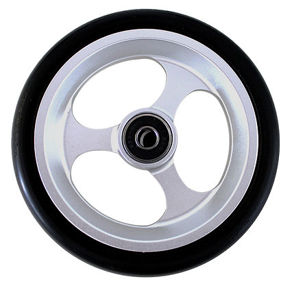 "5"" x 1"" Caster Wheels With 5/16'' (608-2RS) Bearings And Black Tire (Pair) Side View"