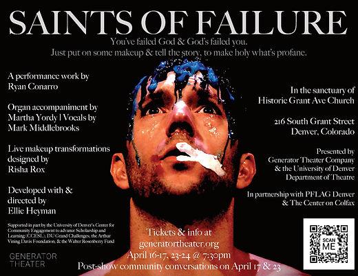 Saints of Failure Conarro Denver 2021 PO