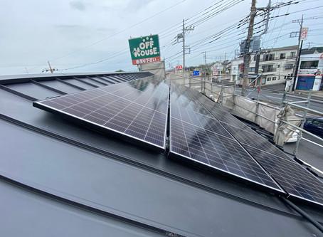 いえ博久喜ステージ 太陽光パネルの施工終了