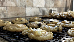 Nestle Toll House Dark & White Chocolate Chip Cookies with cannabutter