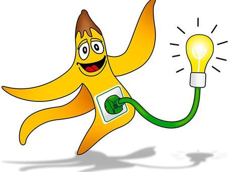 如何用一根香蕉皮點亮34分鐘的檯燈