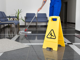 Housekeeping and slips, trips and falls