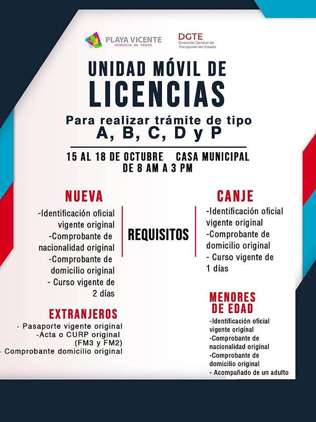 Del 15 Al 18 De Octubre Estara El Modulo Para Licencias En