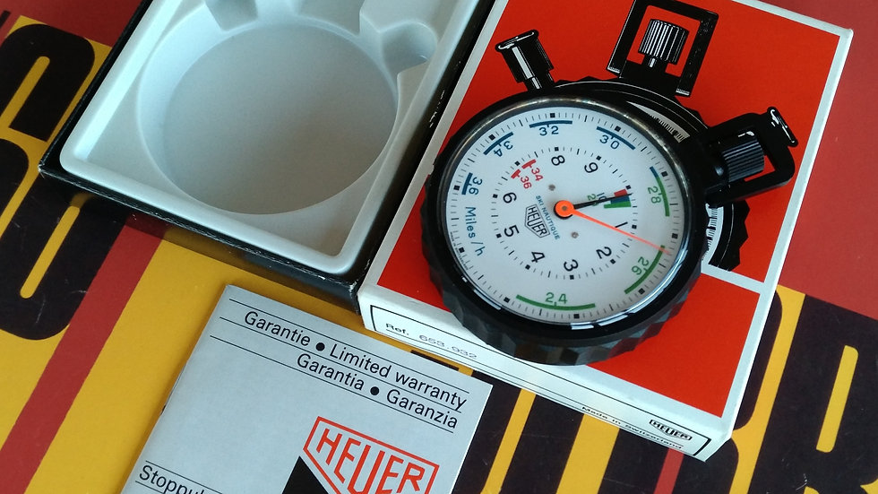 NEW OLD STOCK HEUER SKI NAUTIQUE JUMBO STOPWATCH REF 653.932