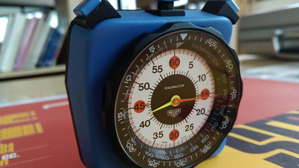 HEUER ROADMASTER BLUE DASH MOUNTED TIMER