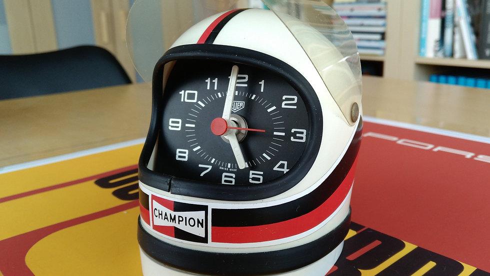 "HEUER COMMEMORATIVE F1 ""CHAMPION"" CLOCK / HELMET"
