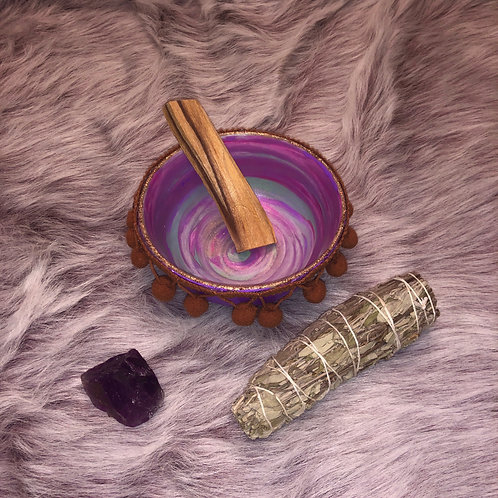 Amethyst Shamanic Smudge Kit