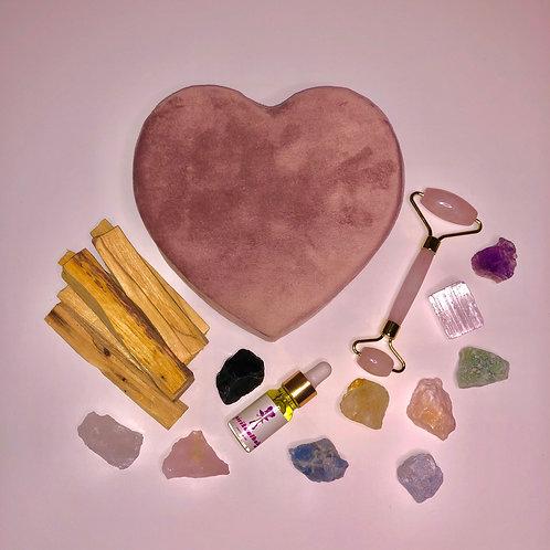 Self Love Velvet Heart Box