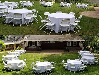 table and chair rentals, round table rentals