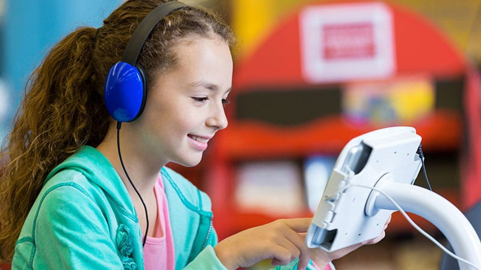 Audiobooks allow students to hear explicit sounds of letters and letter patterns that form words. Audiobooks also help students engage in text and gain exposure to more words, ultimately improving vocabulary, comprehension and critical thinking skills.