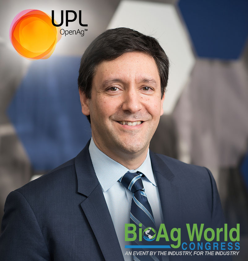 Photo of Diego Casanello, UP logo, BAW Congress logo