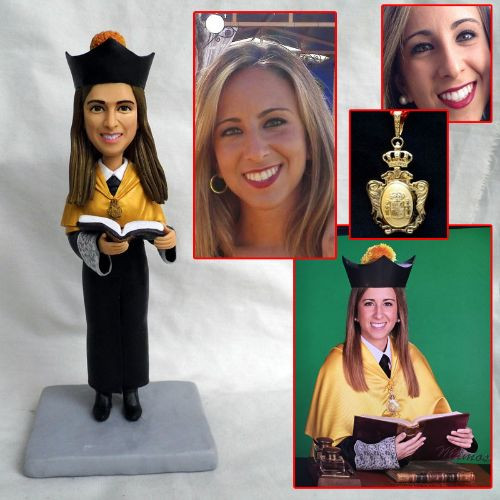 personalized clay figurine college profe
