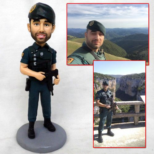 personalized clay figurine soldier with