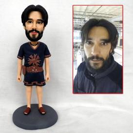 personalized clay figurine man adventure