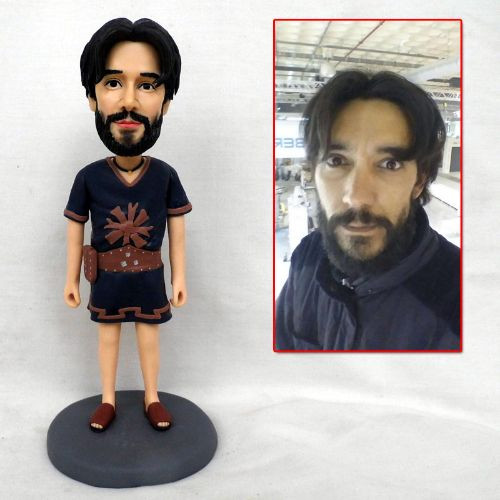 personalized clay figurine man adventure