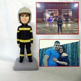 custom handmade clay figurine fireman.jp