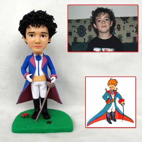 personalized clay figurine boy with swor