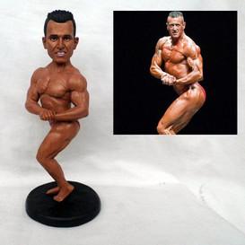custom handmade clay figurine bodybuilde