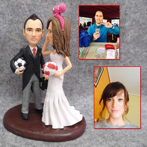personalized wedding cake topper soccer