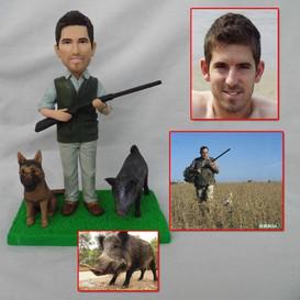 custom handmade clay figurine hunting wi