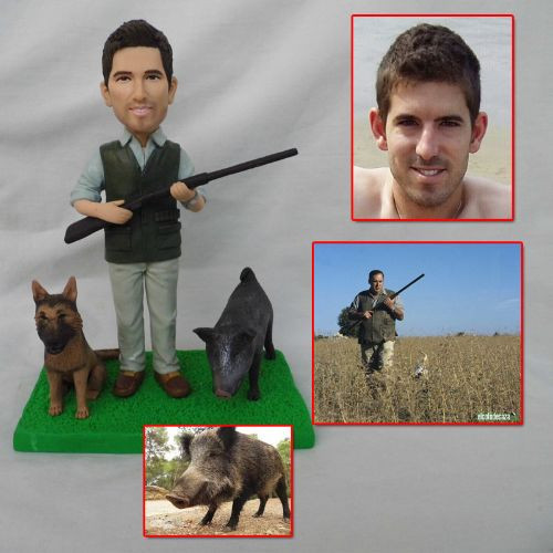 custom handmade clay figurine hunting wi