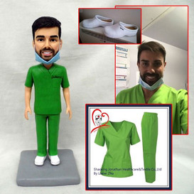 custom handmade clay figurine doctor nur