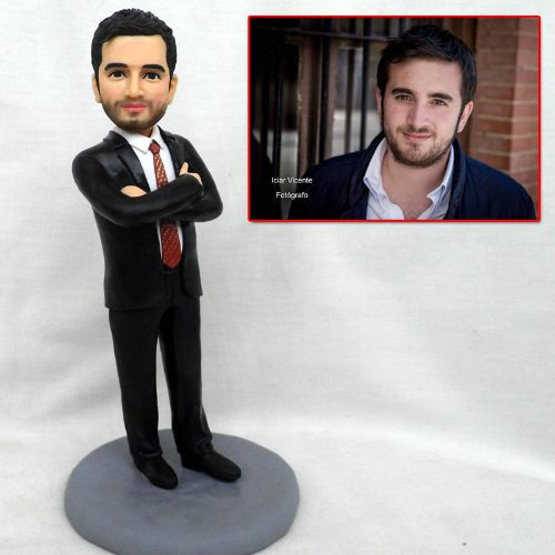 personalized clay figurine man in suit.j