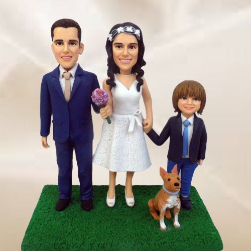 custom wedding cake topper son and pet.j