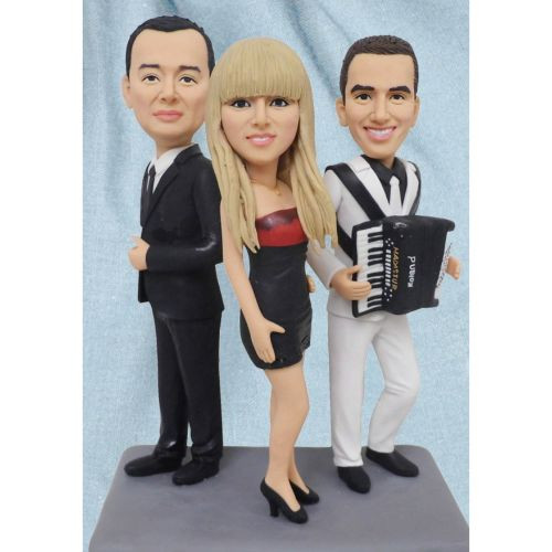 personalized clay figurine three friends