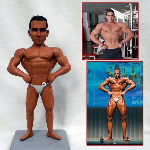 custom handmade clay figurine bodybuilde