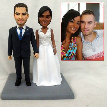 custom wedding cake topper interracial c
