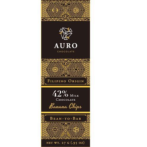AURO 42% Milk & Banana Chips (S)
