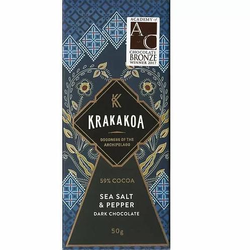 Krakakoa 59% Melk chocolade, Peper & Zeezout