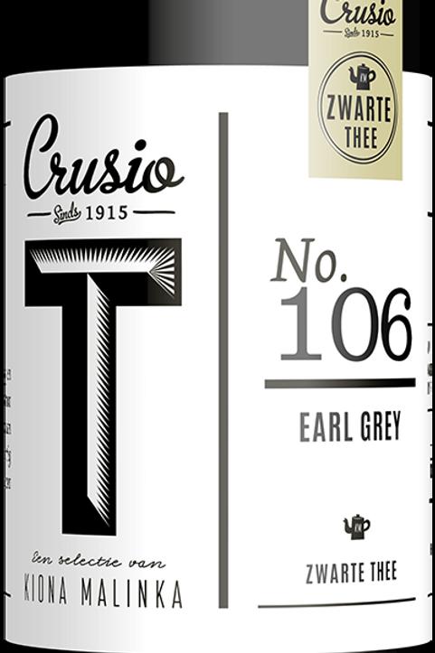 Crusio, Earl Grey - zwart, blik
