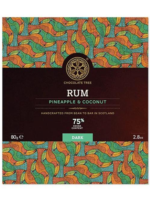 Chocolate Tree 70% Rum, Pineapple & Coconut