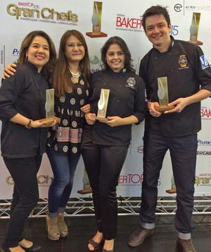 Finalistas Gran Chef com a Chef Renata Arassiro