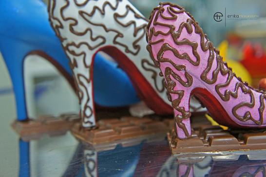 Sapatos Louboutin de Chocolate