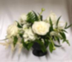 White wedding centerpiece, Atlanta wedding flowers