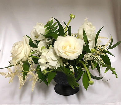 White wedding centerpiece, Atlanta wedding flowers