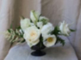 Wedding centerpiece, Atlanta wedding flowers, bridal flowers, floral design, white floral centerpiec