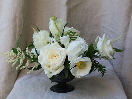 Wedding centerpiece, Atlanta wedding flowers, bridal flowers, floral design, white floral centerpiec