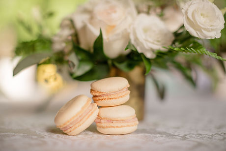 flowers with macarons.JPG