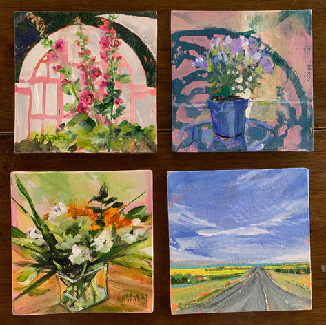 4 small paintings for sale at The Collectors Gallery of Art, Calgary