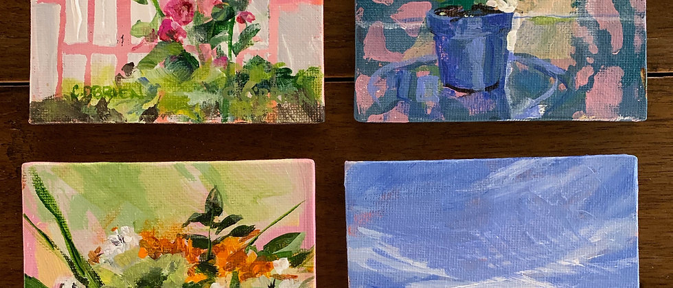 4 Small Paintings