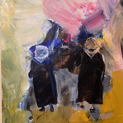 Abstract, Two Instanbul Women