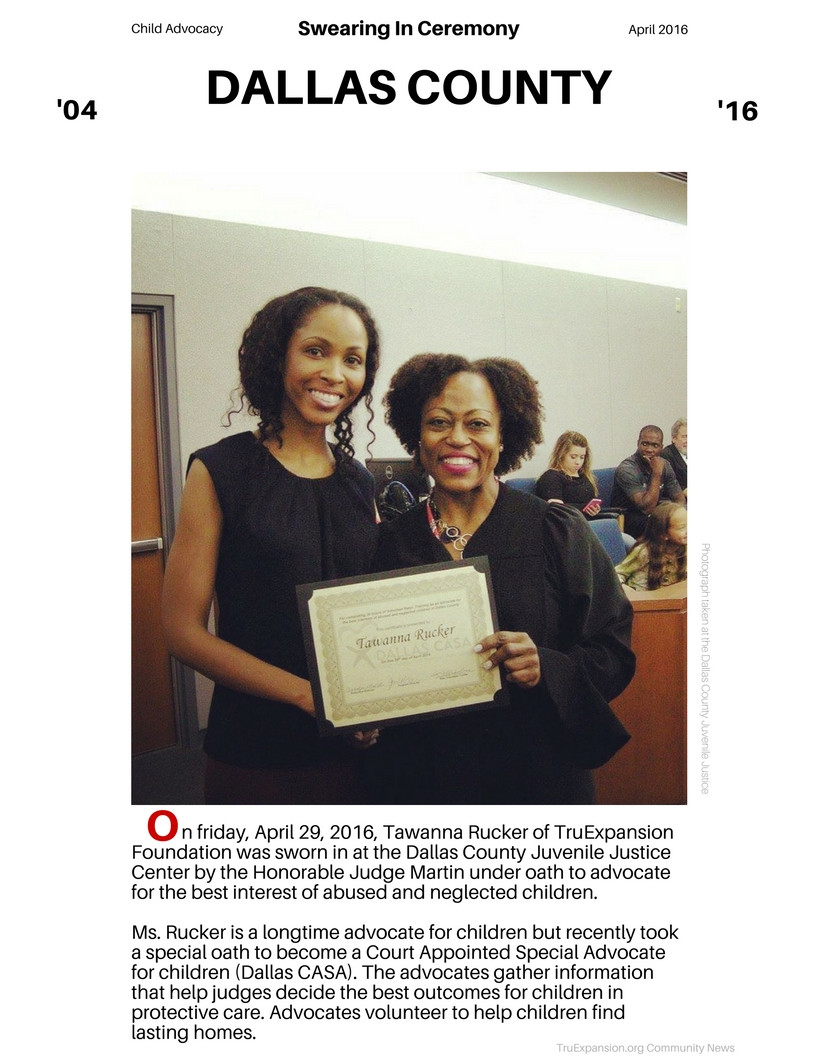 Tawanna Rucker Child Advocate Ceremony Court Appointed Special Advocate